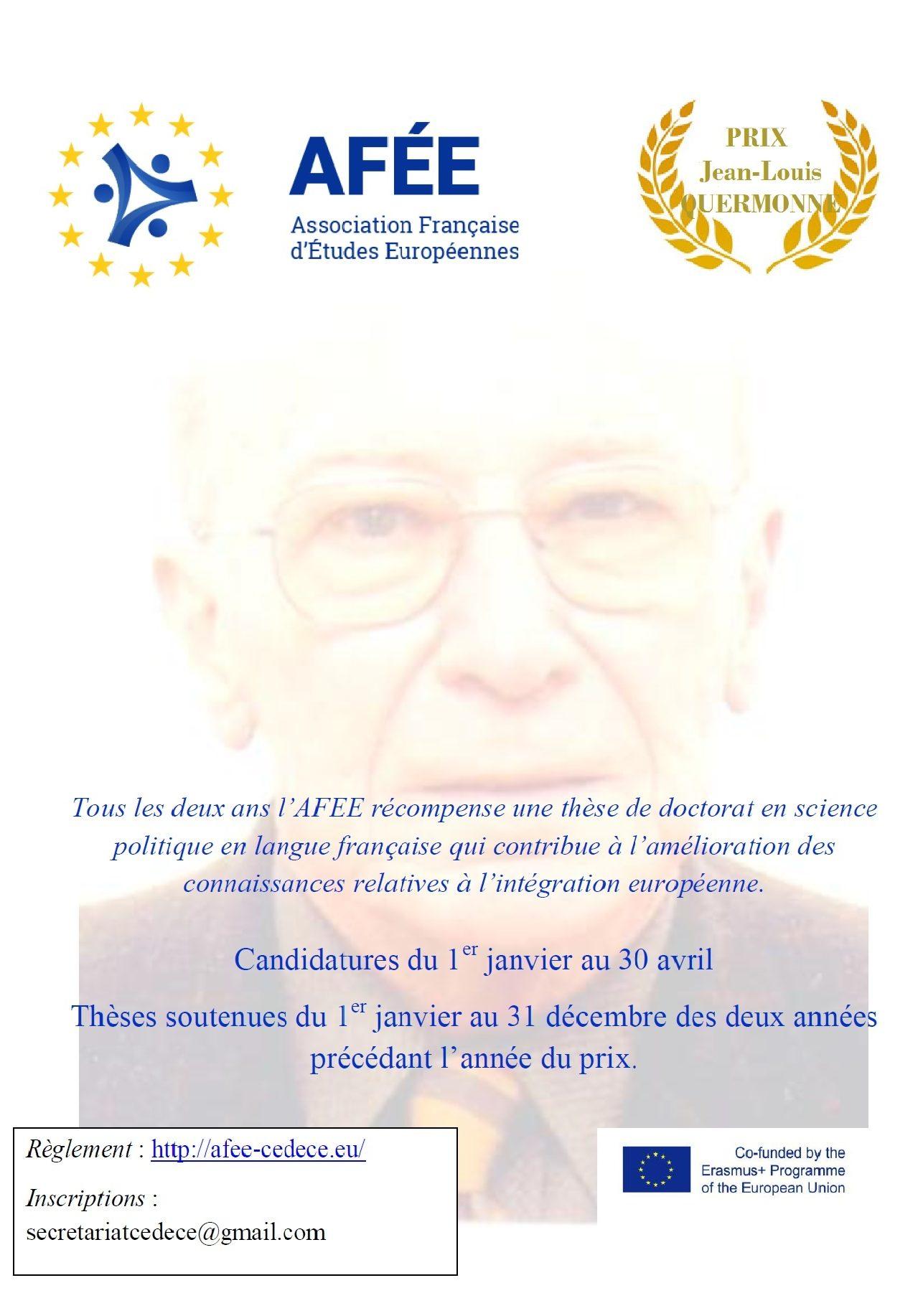 Aliénor Ballangé, lauréate du prix Jean-Louis Quermonne 2020